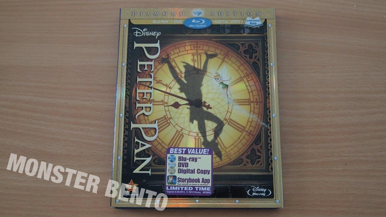 Disney Peter Pan Diamond Edition Blu-ray | DVD | Digital Copy Unboxing &  Review