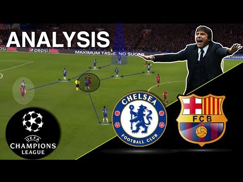 Conte's Genius Plan To Block Barca | Chelsea-Barcelona Tactical Analysis