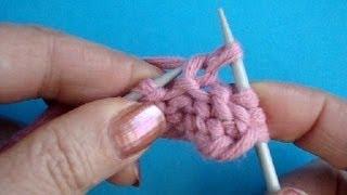 Вязание скрещенной лицевой петли Урок 33 Вязание на спицах Knitting basics stitch(Вязания спицами скрещенной лицевой петли за заднюю стенку петли Подписаться на все новые видео-уроки вяза..., 2013-09-23T06:44:31.000Z)