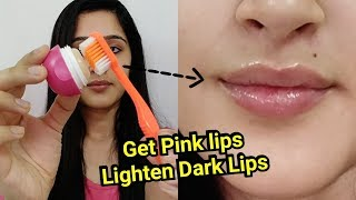 How to GET PINK LIPS & LIGHTEN DARK LIPS | 1 INGREDIENT TO LIGHTEN LIPS