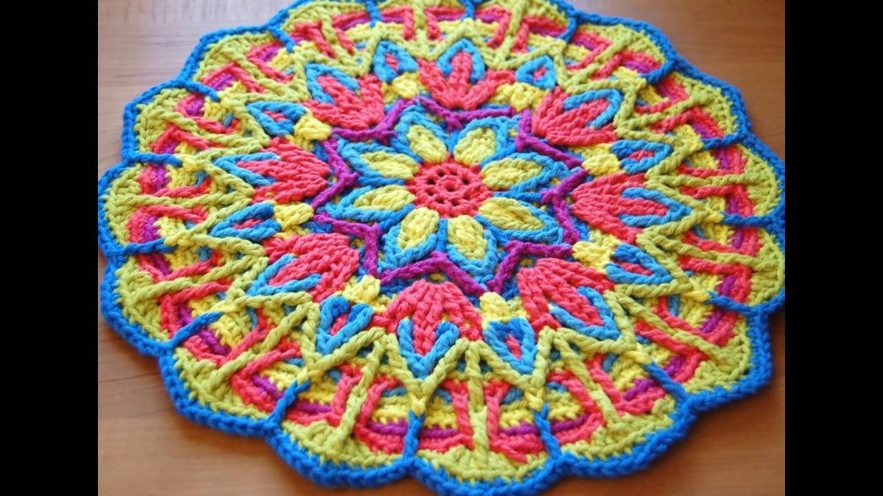 Mandala Tejida A Crochet Youtube