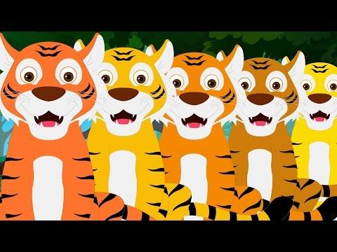 Five Big Tigers  Kindergarten Nursery Rhymes For Toddlers  Cartoon s For Babies  Kids Tv