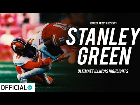 Hardest-Hitting Freshman Safety in College Football - Stanley Green Official Illinois Highlights