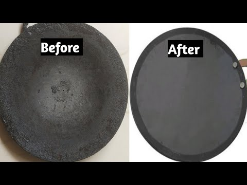 #howtoclean How To Clean Tawa in 5 minutes