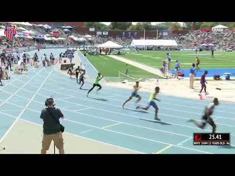 2018 AAU JO 200m semifinals 11yr boys