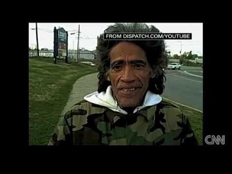Homeless man with a Golden Radio Voice - Ted Williams on CNN (© CNN.com)