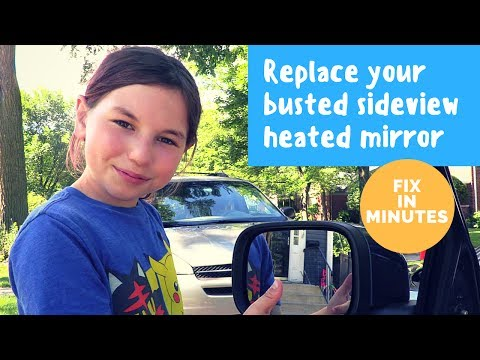 Easily fix a busted sideview heated mirror in minutes: replace a sideview mirror on a Volvo XC70