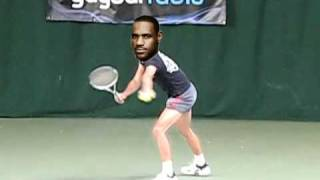 Lebron James playing tennis