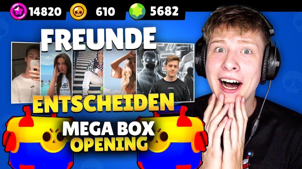 meine FREUNDE entscheiden mein MEGA BOX OPENING & können 100 EURO GEWINNEN • Brawl Stars deutsch