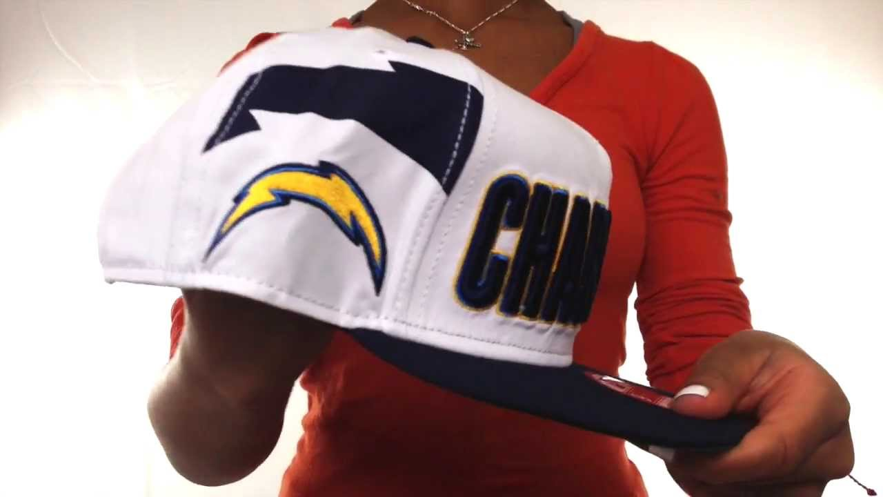 95a80c1678a6a Chargers  BIGSIDE A-FRAME SNAPBACK  White-Navy Hat by New Era - YouTube