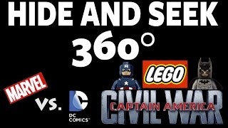 Lego Captain America Civil War / Marvel vs. DC Game! Hide and Seek 360 - #4 #360Video