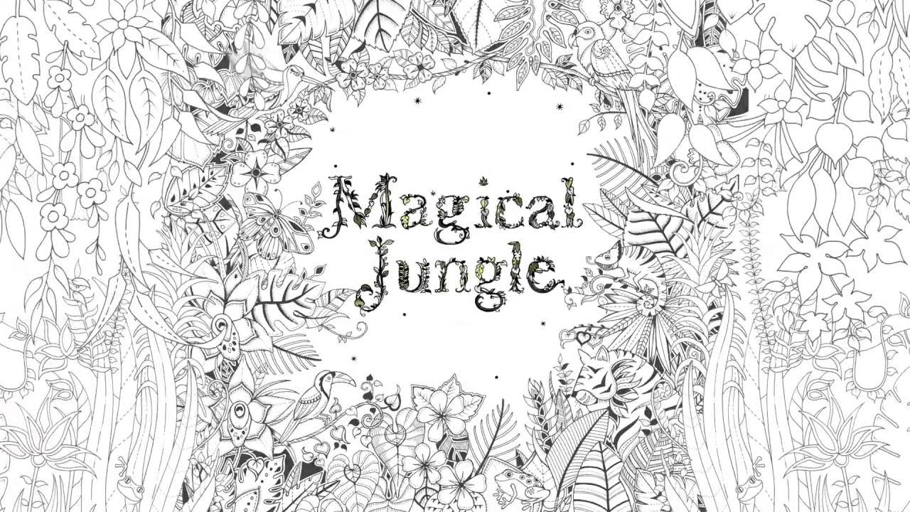 Magical Jungle An Inky Expedition Amp Colouring Book Youtube