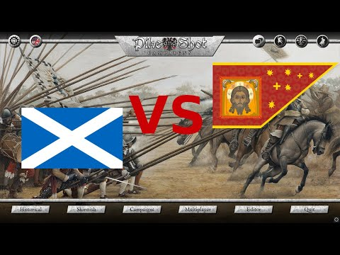 Pike and Shot Campaigns - Gameplay - Russian salvo vs Scottish pikes |