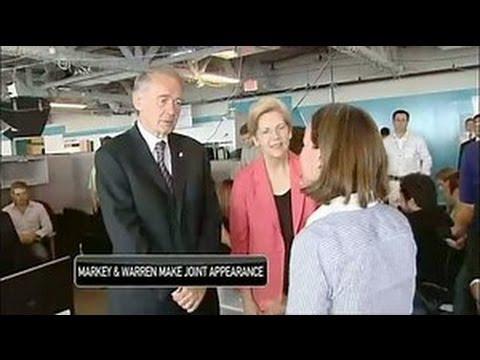 Senators Elizabeth Warren and Ed Markey -  Massachusetts New Representatives in the US Senate
