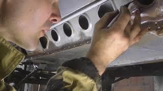 Chevrolet Niva, «Нива Шевроле» 5 часть.  Сломался бензопровод.  Ремонт лонжерона и замена порога.