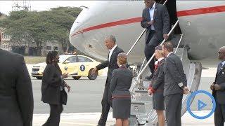 Low key arrival of former US President Barack Obama at JKIA