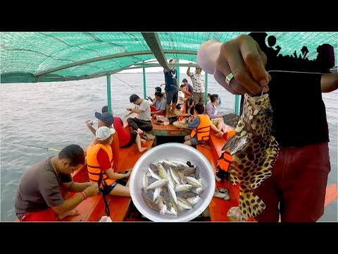 Fishing Tour at The Sea in Koh Kong Province, Cambodia, Southeast Asia