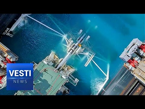 "Vesti Special Report! Inside Look at ""Pioneering Spirit"" Team Laying Down Vital TurkStream Pipeline"