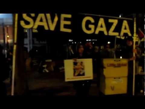 Worldwide Emergency Global Action for Gaza - Seattle, WA 11/15/12