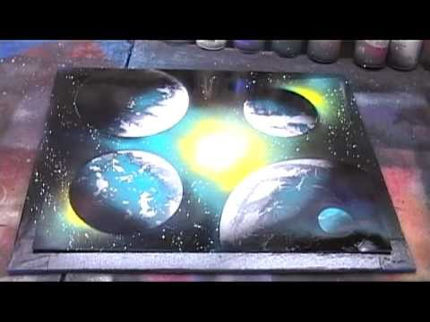 Beginner Galaxy Spray Paint Art