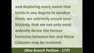 olive branch petition 1775 hear the text