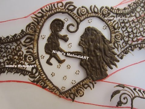 Mehndi For Shrimant : Mothers day special love symbolic full hand henna mehndi design
