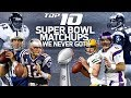 Top 10 Dream Super Bowl Matchups We Never Got | NFL Highlights