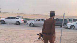 هجوم ارهابيين علي نقطه امنيه بابوحدريه شرق المملكة بالقنابل