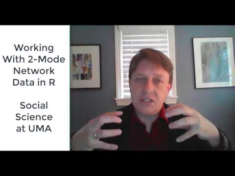 Working With Two Mode Social Network Data in R