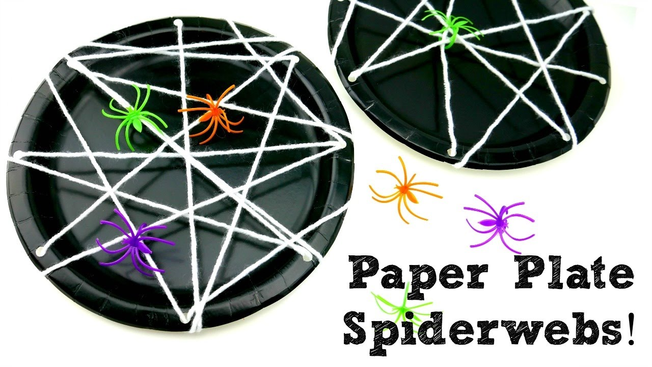 How To Make Paper Plate Spiderwebs Episode 11 Youtube