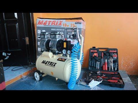 Unboxing Kompresor Udara Matrix 1HP 25lt