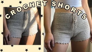 Crochet Shorts | High-Waisted Shorts | Tutorial