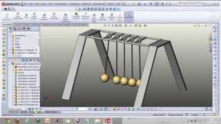 Newton's Cradle-its Making And Animation In Solidworks