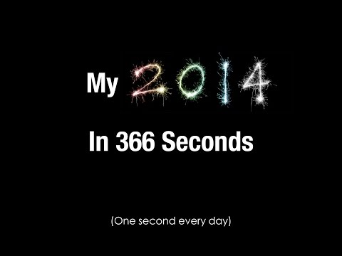 My 2014 in 366 Seconds (One Second Everyday)
