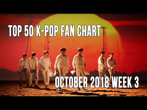 Top 50 K-Pop Songs Chart - October 2018 Week 3 Fan Chart