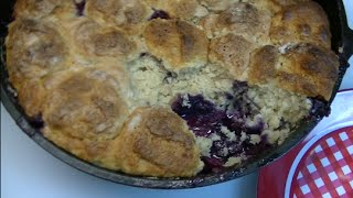Rubarb Berry Cobbler Recipe ~ Noreen's Kitchen
