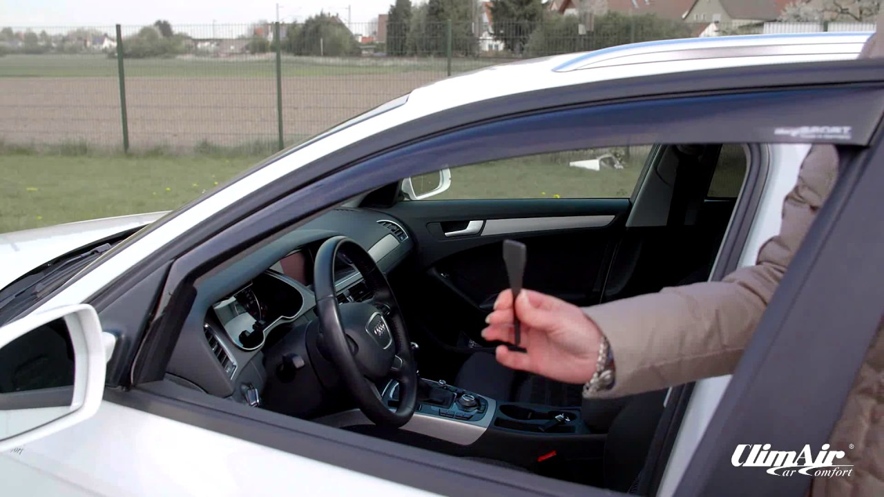 Climair Windabweiser vorn für Ford Focus II 3 Türer schwarz