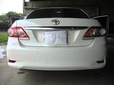 Toyota Corolla Altis 2011 Up Led Rear Bumper Reflector