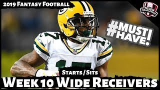 2019 Fantasy Football Advice - Week 10 Wide Receivers - Start or Sit? Every Match Up