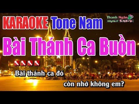Bài Thánh Ca Buồn Karaoke | Tone Nam - Nhạc Sống Thanh Ngân