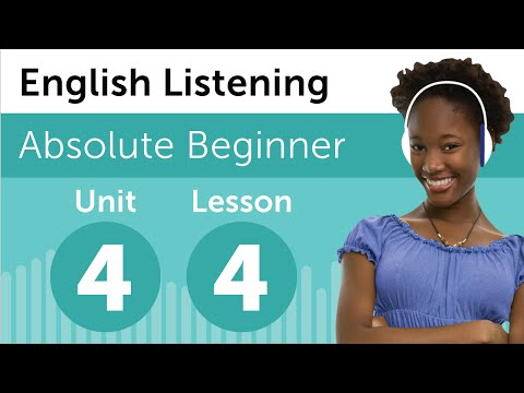 English Listening Comprehension - Talking About a Party in English