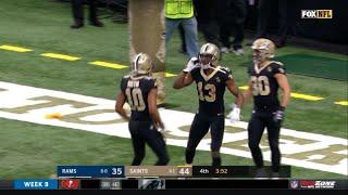 Michael Thomas Recreates Joe Horn's Cell Phone Touchdown Celebration vs Rams (2018)