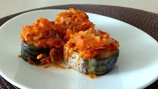 Вкусный и простой рецепт скумбрии в духовке. Скумбрия с морковью. Мои рецепты.