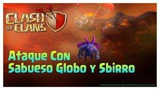 Clash Of Clans TH9 - Ataque con sabueso de lava, globos, & esbirros