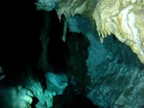 "Cave Diving in Q.R. Mexico.  ""The Pit"" near Puerto Aventuras, Mexico."