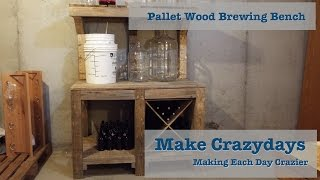 Pallet Upcycle Challenge 2015 Brewing Bench