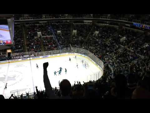 San Jose Sharks vs Chicago Blackhawks 11/23/16 Logan Couture Goal
