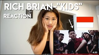 """RICH BRIAN- """"KIDS"""" OFFICIAL MUSIC VIDEO (REACTION) 
