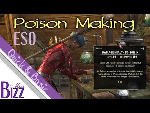 Crafting Poisons in ESO - Elder Scrolls Online Poisons - How to Make Poisons in ESO - Poisons Guide