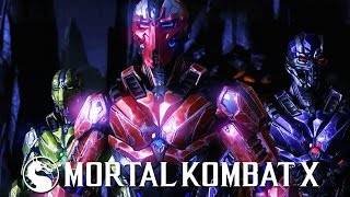 Mortal Kombat X - Triborg Gameplay Fatality Brutality X-Ray Kombat Pack 2 @ (60fps) HD